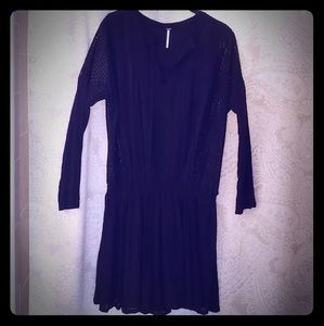 Free People Black Dress with Lace Detail